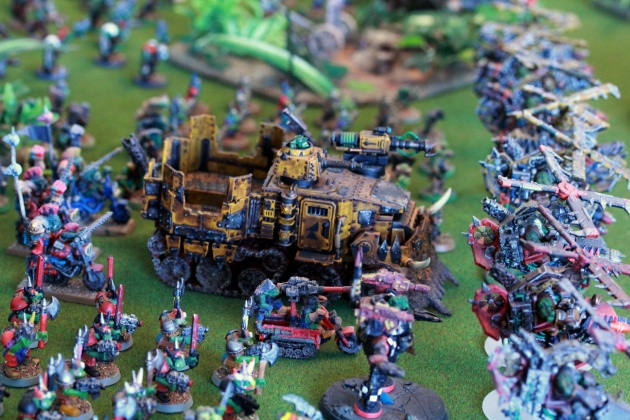 Battle Wagon formed the center point of Ork deployment.