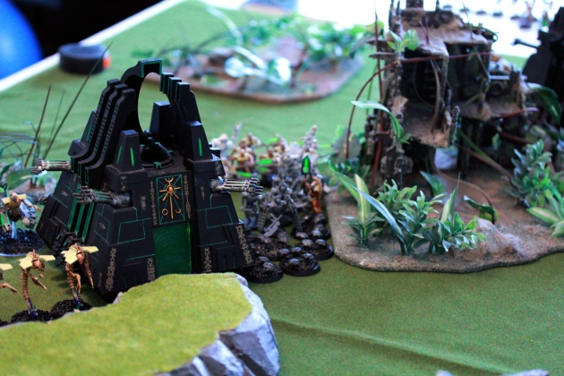 Necron middle: two Deathstar units, Monolith, Destroyers and Scarabs (ready to kill the Battlewagon just 24 inches away).