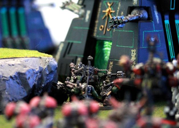 """Knock knock!"" said the Tank Bustas to the big black pyramid."
