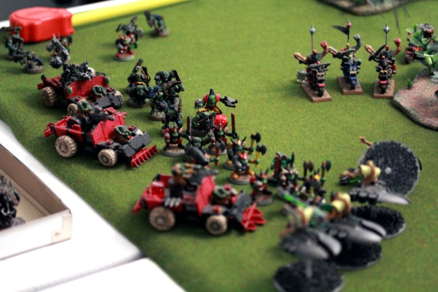 After the Monolith is destroyed, only Destroyers are blocking the Orks ... and the Boyz take them out easily.