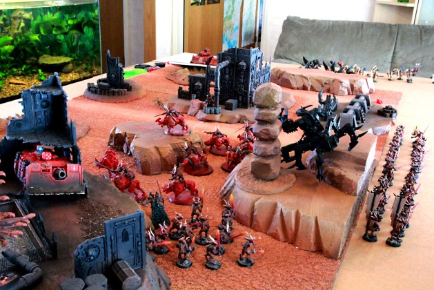 Overview of Daemons at the end of first battle round.
