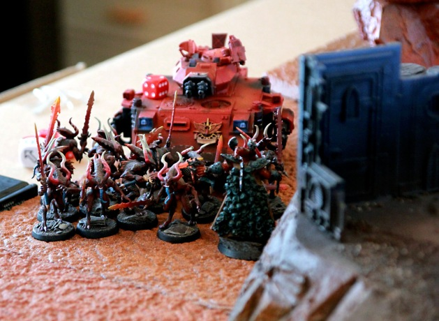 Some hideously bad rolling resulted in Blood Letters letting the Baal Predator to fight another round!