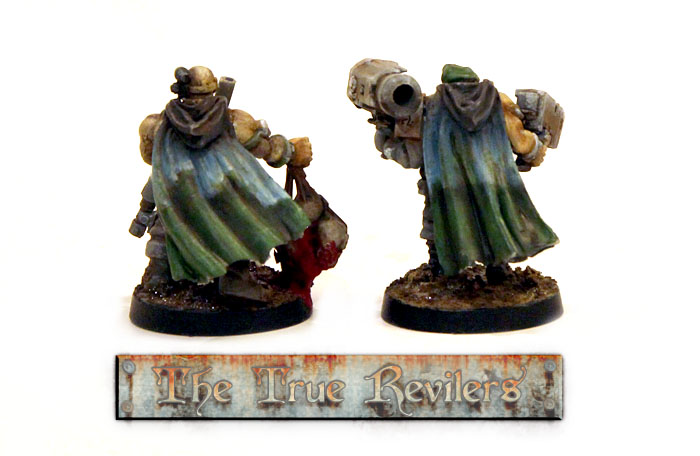 Cloaks of the scouts. Cloak models from Victoria Miniatures in Australia.