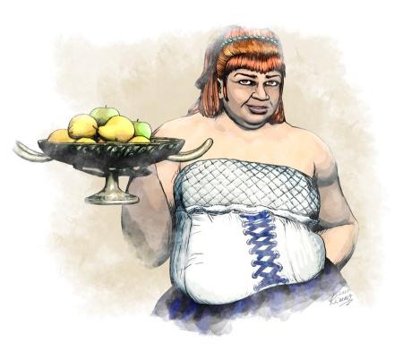 Dwarf waitress